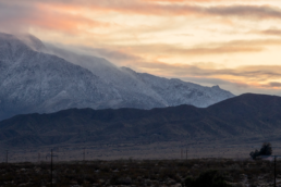 Photo of mountain sunset in Desert Hot Springs California by Carl Vervisch