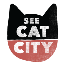 Logo for See Cat City art series by Carl Vervisch