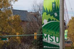 Michigan State University 150 Years Banner